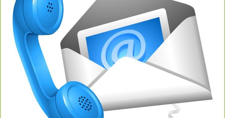 Contacts par e-mail sur le site