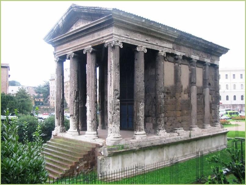 Marbre de Carrara - Rome Temple de Portunus