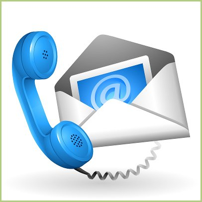 Contact visiteurs - Contacts e-mail ou téléphone sur la page contact