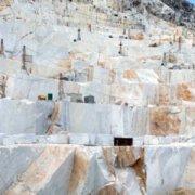 Carrière de marbre de Carrare site italie