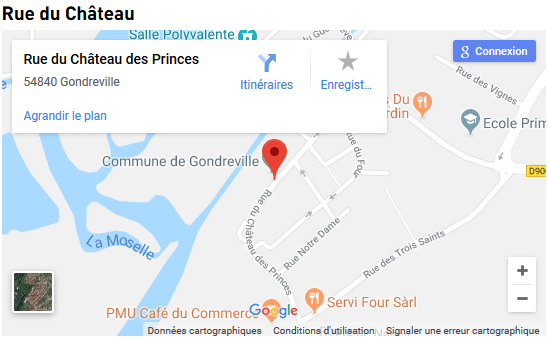 La circulation dans Gondreville - Carte google map de Gondreville