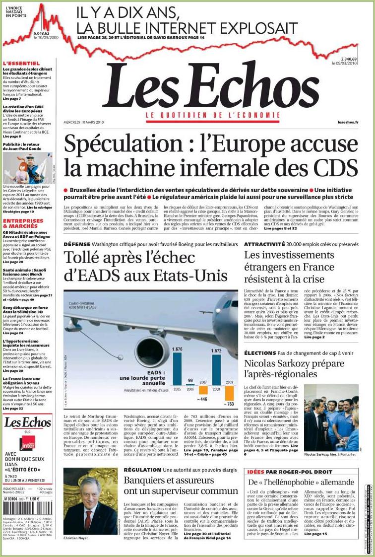 """Le journal """"Les Echos"""""""