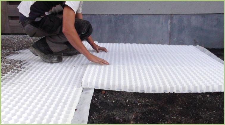 Les granulats de marbre ECOMARMO® - Pose des plaques en nid d'abeille STABIMARMO®