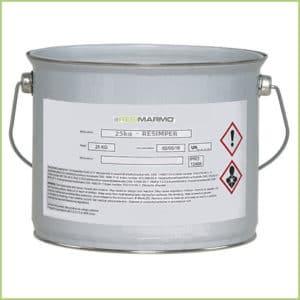 Les produits granulat de marbre - Pot de résine resimper (25kg)