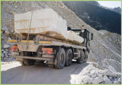 Le transport du marbre
