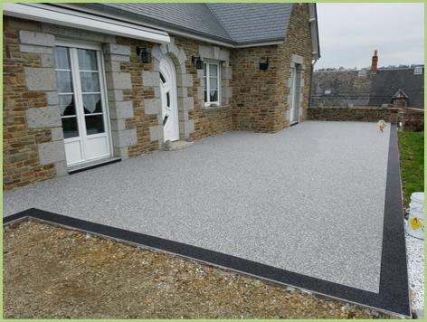 Terrasse en granulat de marbre - Après