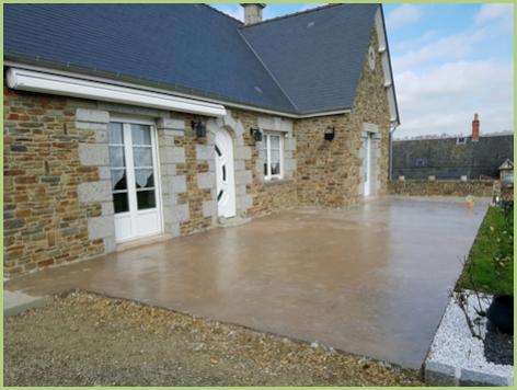 Terrasse en granulat de marbre - Avant