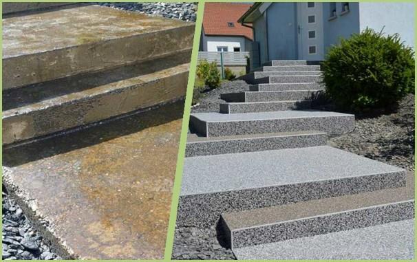 Rénovation d'escalier avec des profilés aluminium RESIPROFIL
