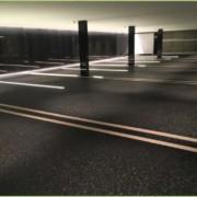 Un parking sousterrain en granulat de marbre en suisse