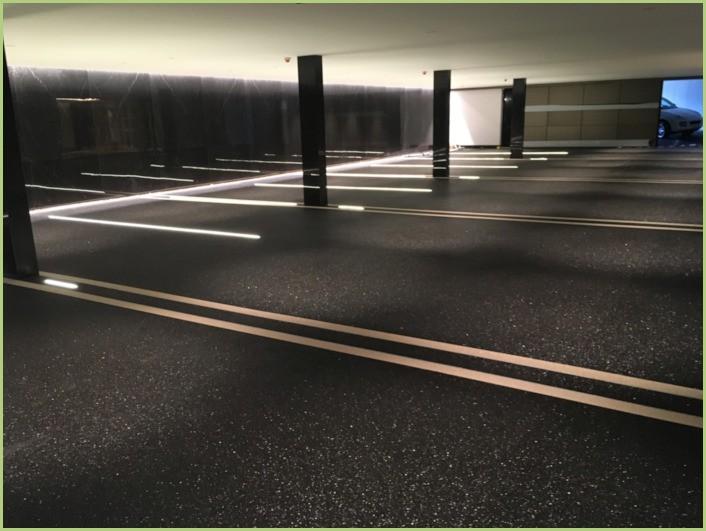 Li aggregati di marmo - Un parcheggio sotterraneo