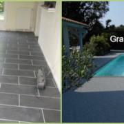 Comparaison Carrelage Granulat de marbre