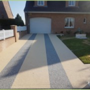 Des entrées de garage en granulat de marbre