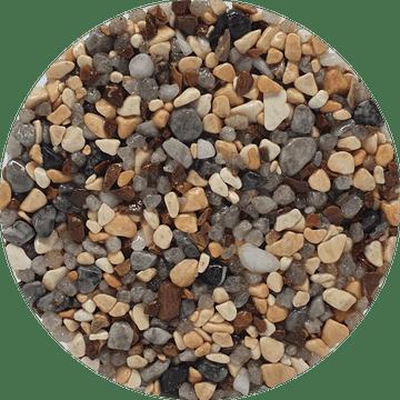 Couleur du granulat de marbre ARABESCATO MIX